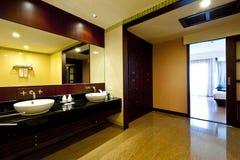 Bathroom hotel. Large Bathroom in Luxury hotel Royalty Free Stock Photography