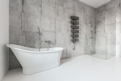 Bathroom in the house. Big and contemporary bathroom in the house Stock Images