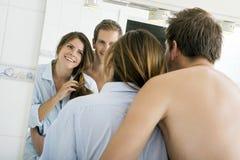 Bathroom hug Royalty Free Stock Photo