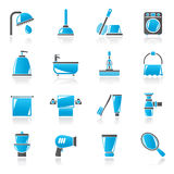 Bathroom and hygiene objects icons Royalty Free Stock Image