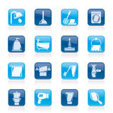 Bathroom and hygiene objects icons Royalty Free Stock Photos