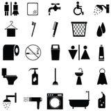 Bathroom icon set Stock Photography