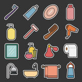 Bathroom icon Royalty Free Stock Photography