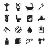 Bathroom icon set stock illustration