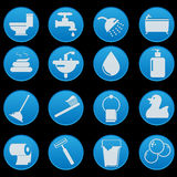 Bathroom Icon Set Stock Images