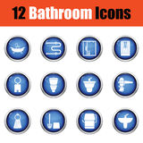 Bathroom icon set. Stock Photography