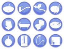 Bathroom icon set Royalty Free Stock Image