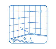 Bathroom Icon white Royalty Free Stock Photos
