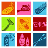 Bathroom icons Royalty Free Stock Images