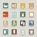 Bathroom icons Royalty Free Stock Image