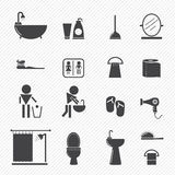 Bathroom icons Royalty Free Stock Photos