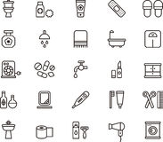 Bathroom icons Stock Photo