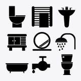 Bathroom icons design Royalty Free Stock Photo
