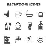 Bathroom icons Stock Photos