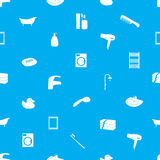 Bathroom icons pattern eps10. Blue bathroom icons pattern eps10 Royalty Free Illustration