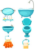 Bathroom icons set Stock Photo