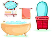 Bathroom icons set Stock Photos