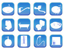 Bathroom icons vector illustration