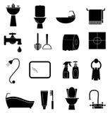 Bathroom icons set Royalty Free Stock Photo