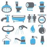 Bathroom icons Stock Photo