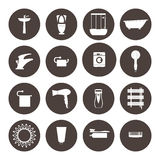 Bathroom icons set. equipment  bath. Bathroom icons set.equipment  bath Royalty Free Stock Photography