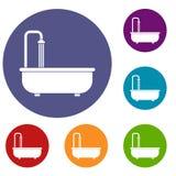 Bathroom icons set Stock Photo