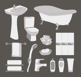 Bathroom icons set Stock Photography