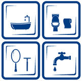 Bathroom icons set Royalty Free Stock Image