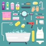Bathroom icons symbols vector Royalty Free Stock Photos