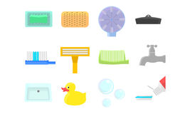Bathroom icons Stock Image