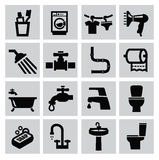 Bathroom icons Royalty Free Stock Photography