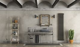 Bathroom in industrial style Stock Photography