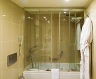 Bathroom inside hotel Stock Images