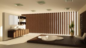 Bathroom interior. Modern interior of a bathroom (3d rendering Stock Photos