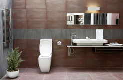 Bathroom interior. Interior of a modern bathroom with WC stock photos