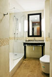 Bathroom interior. Of luxury resort hotel royalty free stock photos