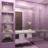 Bathroom interior. Royalty Free Stock Images