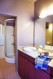 Bathroom interior. Of a apart hotel royalty free stock photos