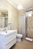 Bathroom interior. Of luxury resort hotel royalty free stock image