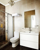 Bathroom interior. Of luxury resort hotel Royalty Free Stock Images