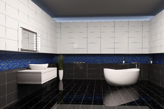 Bathroom interior 3d Royalty Free Stock Photos