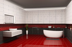 Bathroom interior 3d Stock Images