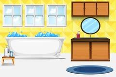 A bathroom interior background vector illustration