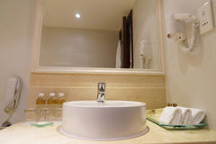 Bathroom interior of brand new luxury resort hotel Royalty Free Stock Images