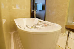 Bathroom interior of brand new luxury resort hotel Stock Photo