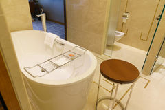 Bathroom interior of brand new luxury resort hotel Royalty Free Stock Image