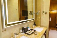 Bathroom interior of brand new luxury resort hotel Royalty Free Stock Photos