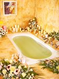 Bathroom interior with bubble bath. Stock Image