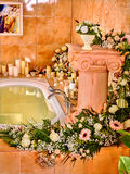 Bathroom interior with bubble bath Royalty Free Stock Photo
