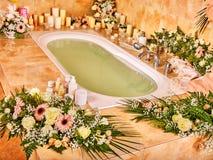 Bathroom interior with bubble bath Stock Photography